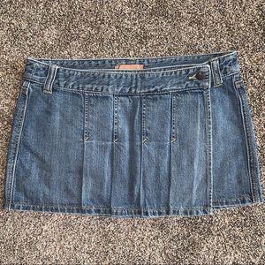 Vintage Abercrombie&Fitch Pleated Denim Wrap Skirt